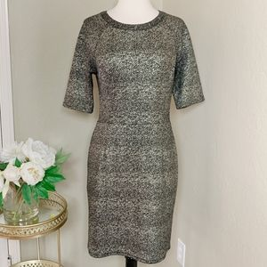 Collective Concepts Speckled Foil Gold Dress